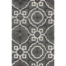Fancy Morine Grey/White Area Rug