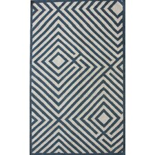 Couture Kilim Diamond Denim Rug
