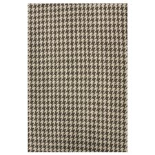 Natura Houndstooth Brown Area Rug