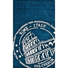 Cine Roma Teal Novelty Rug