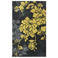 Cine Bold Leaves Dusk Rug