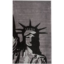 Cine Statue Of Liberty Grey Novelty Rug