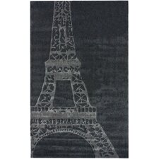 Cine Eiffel Grey Novelty Rug
