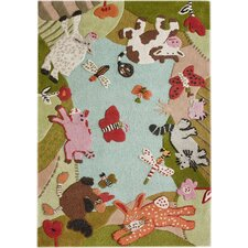 KinderLOOM Animal Land Area Rug