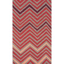 Cine Chevron Fire Rug