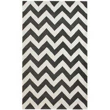 Marrakesh Meridian Chevron Black Area Rug