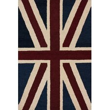 <strong>nuLOOM</strong> Marbella Union Jack Denim Novelty Rug