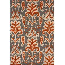 Marbella Verden Ikat Smoke Brown/Tan Area Rug