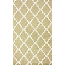 Moderna Light Green Moroccan Trellis Rug