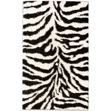 Shaggy Zebra Rug