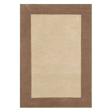 Fancy Taupe Solid Trim Rug