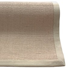 Natural Jute Cotton Border Sand Area Rug
