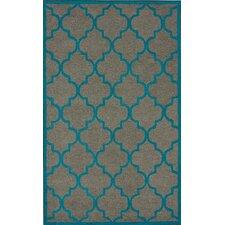 Fancy Madeline Grey/Blue Area Rug