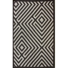 Gelim Brown Geometric Diamond Area Rug