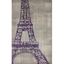 Ayers Dark Grey Eiffel Novelty Rug