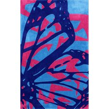 Cine Blue Butterfly Novelty Rug