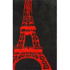 Cine Orange Viva La France Novelty Rug