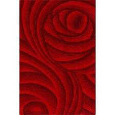 Elegance Red Petal Area Rug