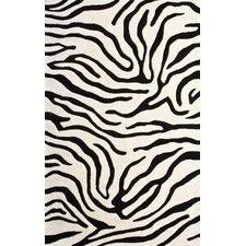 Moderna Black Zebra Print Rug