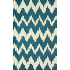 Pop Medium Blue nuChevron Rug