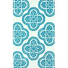 Pop Teal Blue Min Trellis Rug