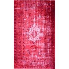 Remade Overdyed Pink Chroma Overdyed Style Rug