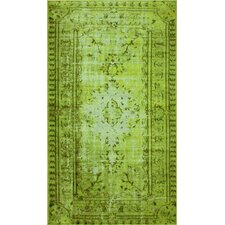 Hawkesbury Funky Yellow Overdyed Style Harper Rug