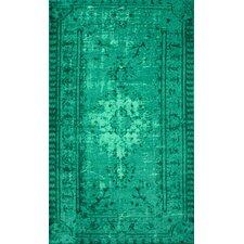 Remade Overdyed Turquoise Chroma Overdyed Style Rug
