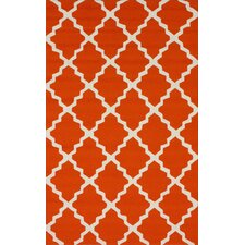 Homestead Orange Lannah Trellis Geometric Area Rug