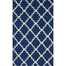 Homestead Navy Blue Lannah Trellis Geometric Area Rug