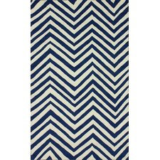 Homestead Navy Arron Chevron Area Rug