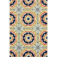 Homestead Spanish Tiles Outdoor Trellis Geometric Area Rug