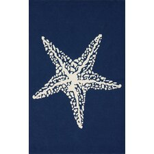 Blue Starfish Area Rug
