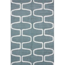 Trellis Light Blue Area Rug