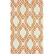 Trellis Orange Moderno Area Rug