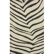 Trellis Ivory Zebra Stripes Rug