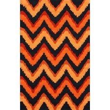 Fergie Orange Chic Chevron Rug