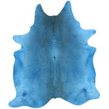 Natura Blue Cow Hide Rug