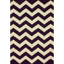 Moderna Purple Chevron Rug