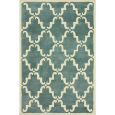 Moderna Light Blue Trellis Rug