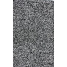 Shag Grey Plush Area Rug