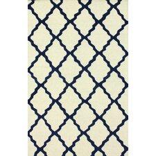 Moderna Blue Moroccan Trellis Area Rug