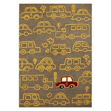 Kinder Cars On The Move Kids Rug