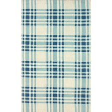 Trellis Blue Plaid Rug