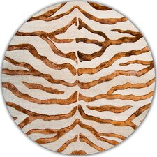 Earth Soft Zebra Brown Area Rug