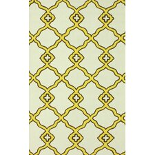 Trellis Yellow, Brown & Beige Naara Rug