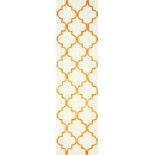 Fancy Tangerine/Biege Edison Area Rug