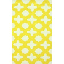 Trellis Yellow Leah Area Rug