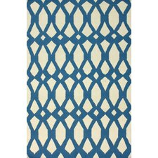 Flatweave Royal Blue Twizzle Area Rug