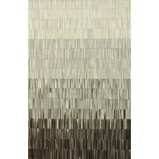 Hides Ombre Patch Black/Grey Striped Area Rug